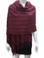 Cashmere Feel shawl  Scarves Burgundy # 93-2