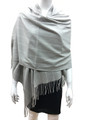 Cashmere Feel shawl  Scarves Gray # 93-6