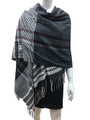 Cashmere Feel shawl  Scarves Black # 95-1