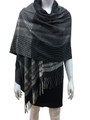 Cashmere Feel shawl  Scarves Gray # 95-2