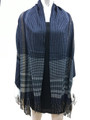 Cashmere Feel shawl  Scarves Navy # 95-4