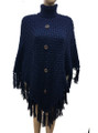 New! Ladies' Stylish  Poncho Black # P198-1