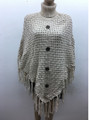 New!  Ladies' Stylish  Poncho Ivory # P198-4