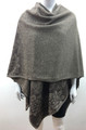 New! Winter Reversible Oversized Poncho Cape Brown # P190-2