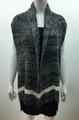 New !  Two Tone Knit Vest  Poncho Black # P209-2