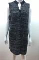 New !  Two Tone Knit Vest Poncho Black # P212-2