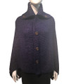 Ladies' Stylish Two-Tone Poncho Purple # P179-9