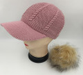 New! Knit Cable Hats with Fur Ball Assorted dozen   #H1228