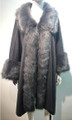 Elegant Women's - Faux Fur  Poncho Cape Gray # P200-4