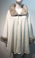 Elegant Women's - Faux Fur  Poncho Cape White # P201-6