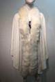 Elegant Women's - Faux Fur  Poncho Cape White # P203-6