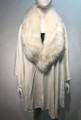 Elegant Women's - Faux Fur  Poncho Cape White # P204-6