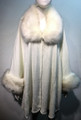 Elegant Women's - Faux Fur  Poncho Cape White# P206-5