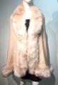 Elegant Women's - Faux Fur  Poncho Cape Pink # P207B-10