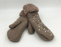 New! Knit Cable pearl Gloves With Thick Fleece Lined Assorted dozen # G1075