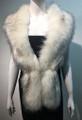 Super Soft Faux Fur  Warm Scarf White  #S 81-2