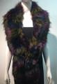Super Soft Faux Fur  Warm Scarf Purple  #S 81-3