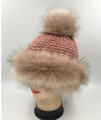 New!  Faux Fur Knit Hats Assorted Dozen #H1206
