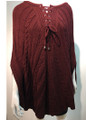 New ! Ladies' Stylish  Poncho Maroon # P215-1