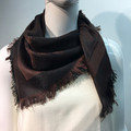 Square Paisley scarf  Coffee Brown  # 137-1