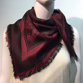Square Paisley scarf  Burgundy # 137-5