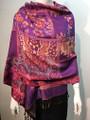 New! Pashmina  Purple / Red Dozen #154-1