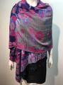 New! Pashmina  Royal Blue / hot Pink Dozen #155-1