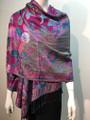 New! Pashmina  Hot Pink / Turquoise  Dozen #155-4