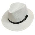 Fashion Summer Straw Hat white # H8025-2