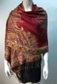 New!   Metallic Paisley Pashmina  Assorted Dozen # S167