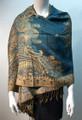 New!   Metallic Paisley Pashmina  Turquoise Dozen # S167-3