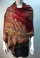 New!   Metallic Paisley Pashmina  Red Dozen # S167-4
