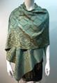 New!   Metallic Pashmina  Turquoise Dozen # S168-3