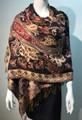 New!   Metallic Pashmina  burgundy Dozen #8120