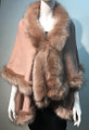 New ! Elegant Women's - Faux Fur  Poncho Cape Pink # P202-9