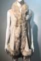New! Elegant Women's - Faux Fur  Poncho Hooded Cape Beige # P205-1