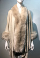 New! Elegant Women's - Faux Fur  Poncho Cape Beige # P218-1