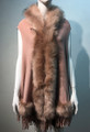 New! Elegant Women's - Faux Fur  Poncho Hooded Cape Pink # P205-6
