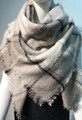 Womens Stylish Shawl  Scarf Gray # S 978-2