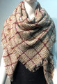 Womens Stylish Shawl  Scarf Brown # S 979-2