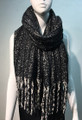 New!  Shawl Scarf Black  # 971-1
