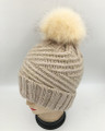 New!  Knit  Hats with Fur Ball Assorted Dozen #H1235