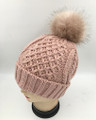 New!  Knit  Hats with Fur Ball Assorted Dozen #H1236