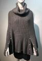 New ! Ladies' Stylish  Poncho Gray # P225-4