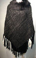 New ! Ladies' Stylish  Poncho Black # P053F-1