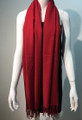 New ! Large Soft Cashmere Feel Scarf   Burgundy # 963-5