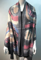 New ! Large Soft Tie-dye Cashmere Feel Scarf  Black # 965-5