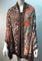 New ! Large Soft  Paisley Cashmere Feel Scarf  Coffee # 966-2
