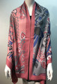 New ! Large Soft  Paisley Cashmere Feel Scarf  Pink # 966-4