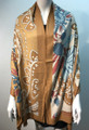 New ! Large Soft  Paisley Cashmere Feel Scarf  Gold # 966-5